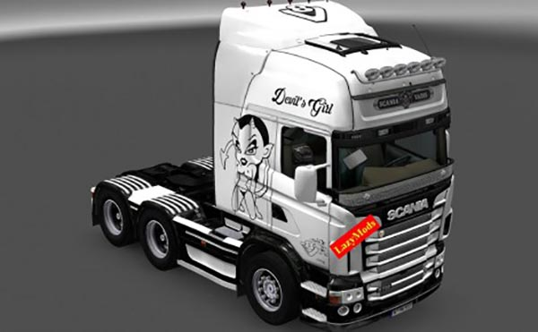 Scania V8 Devils Girl