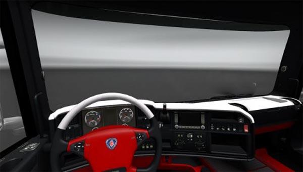 Scania White Red interior