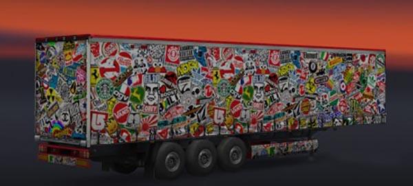 Stickerbomb Trailer