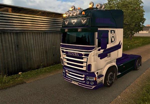 V8 5 Series skin for Scania RJL
