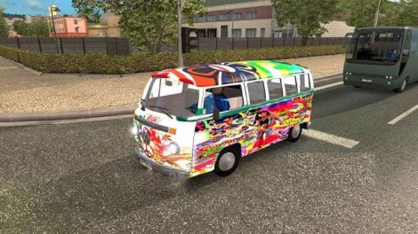 Volkswagen Hippie Van for AI traffic v2