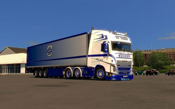 Volvo FH2013 ohaha Blue and White Combo Pack