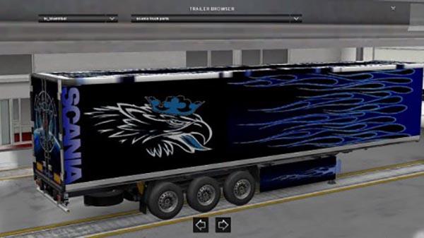 Blue Tribal Scania Trailer