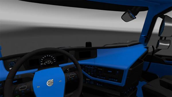 Blue and Black interior