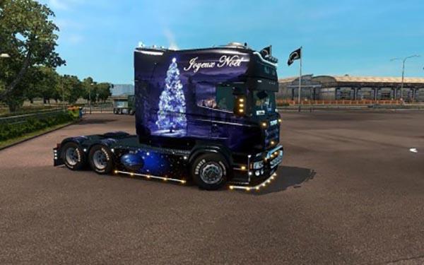 Christmas skin Scania Longline RJL