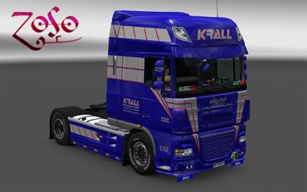 DAF XF 50k – Krall internationale transport skin