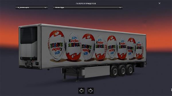 Kinder Surprise Eggs Trailer