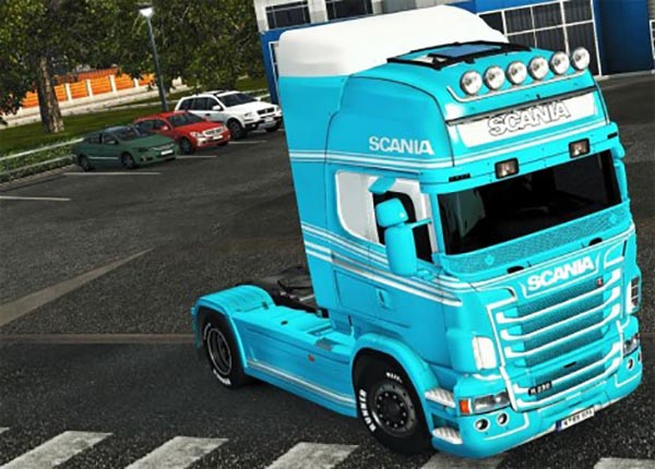 Light Blue and White paint for Scania RJL