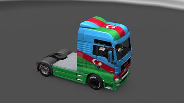 MAN TGX Azerbaijan Skin