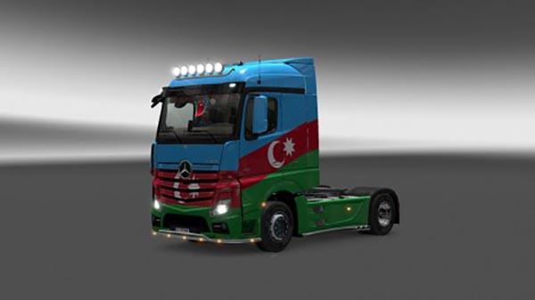 Mercedes Actros MP4 Azerbaijan Skin