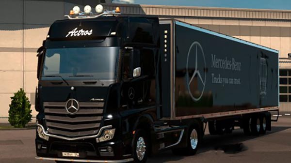 Mercedes Actros MP4 and Am Trailer Combo Skin