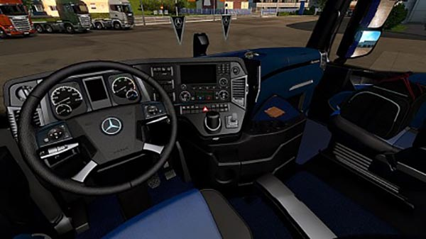 Mercedes Benz Actros MP4 Blue and Black Interior