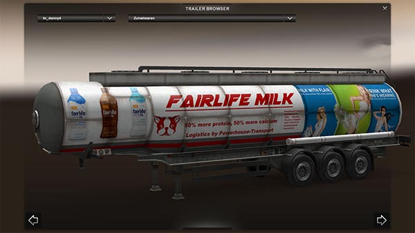 Powerhouse Fairlife milk trailer