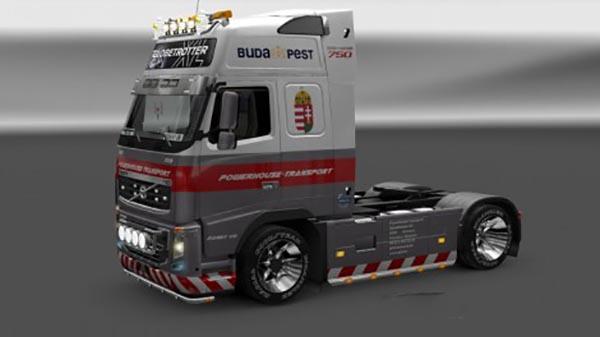 Powerhouse Volvo 2009 FH16 750HP Skin