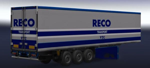 Recotransport trailer with fireworks