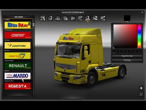 Renault Premium 4 Skins