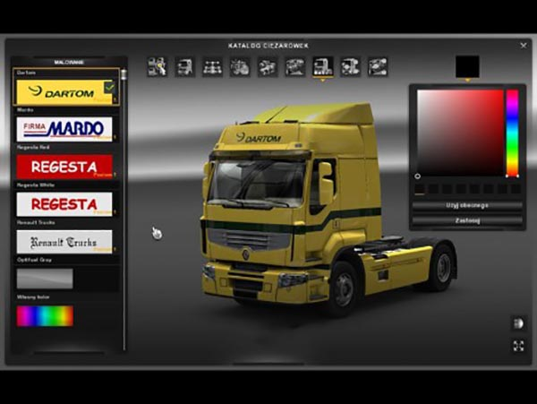 Renault Premium Dartom and Mardo Skins
