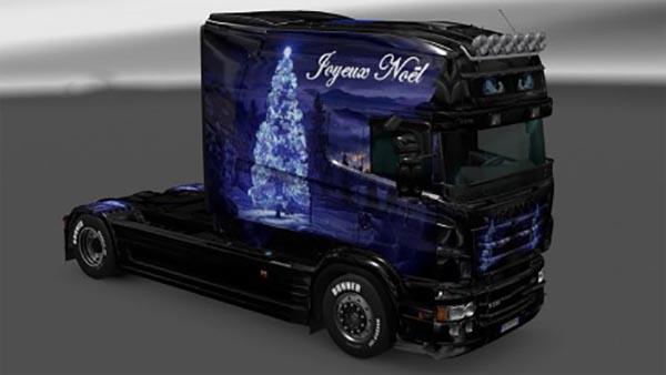 Scania RJL Christmas Landscape Skin