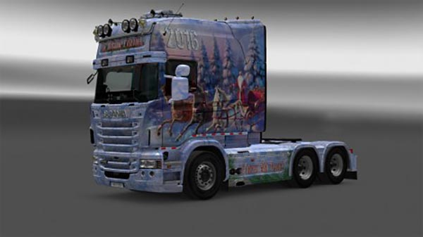 Scania RJL Russian New Yahr Skin