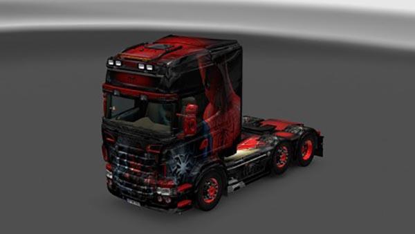 Scania RJL Spiderman V8 Skin