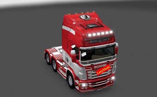 Scania RJL V8 AFC Ajax Skin