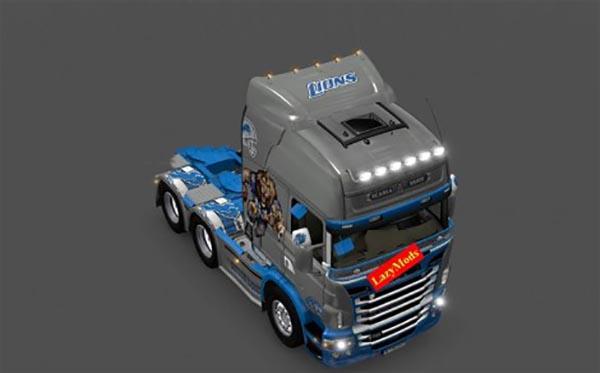 Scania RJL V8 Detroit Lions