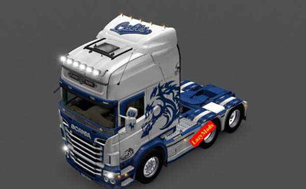 Scania RJL V8 Indianapolis Colts NFL Skin