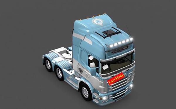 Scania RJL V8 Olympique de Marseille Skin