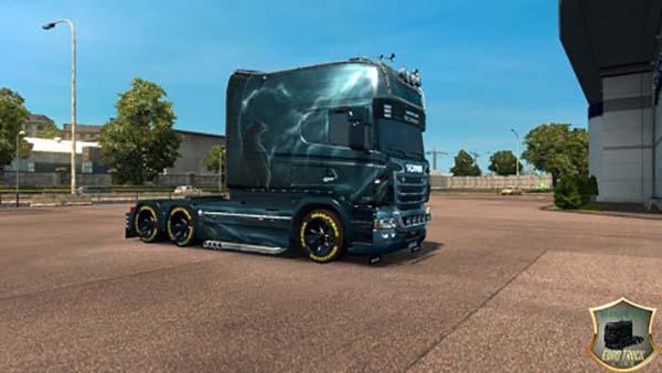 Scania RS RJL Wolf Skin v 1.0