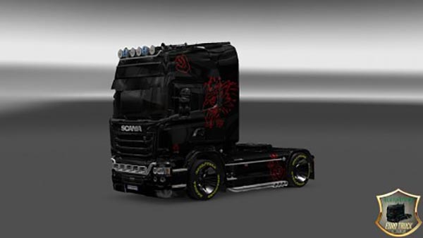 Scania Streamline Black Red Skin