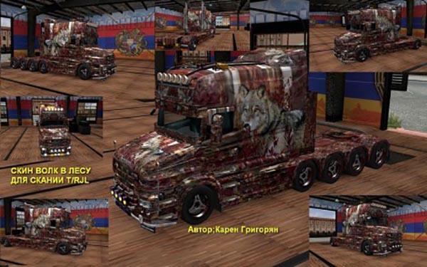 Scania T RJL Wood Wolf Skin