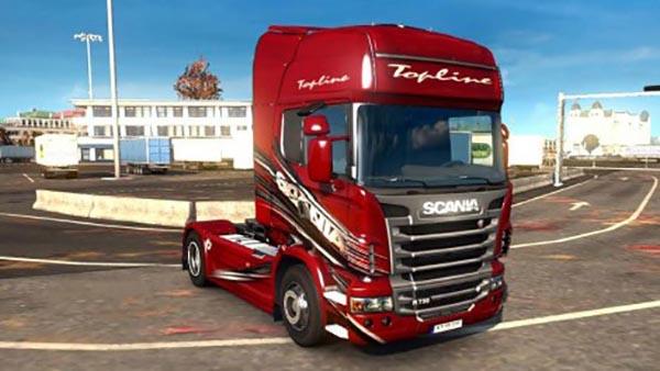 Scania r Red Skin v1