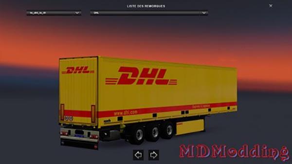 Skin trailer DHL