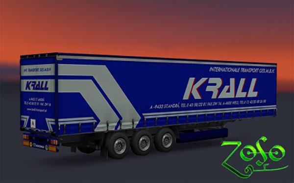 Trailer Krall internationale transport