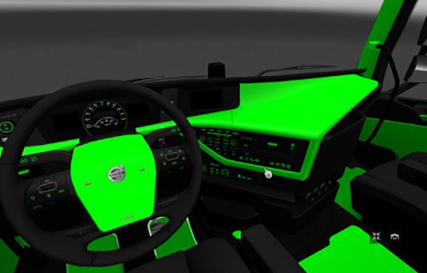 Volvo FH 2012 Green and Black Interior