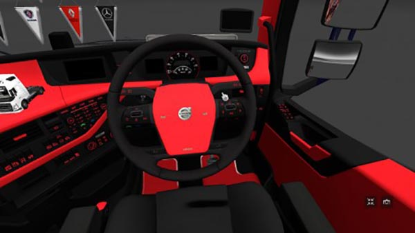 Volvo FH 2012 red and black Interior