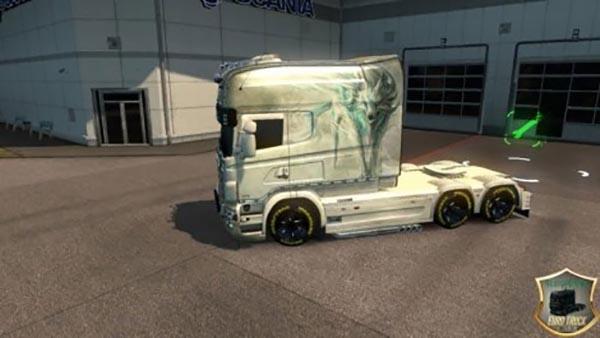 White Fox Scania RS RJL skin