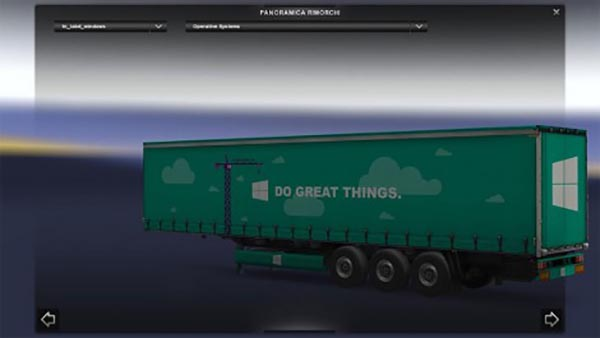 Windows 10 semitrailer skin