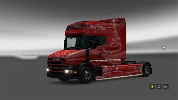 Xmas paint job for Scania T