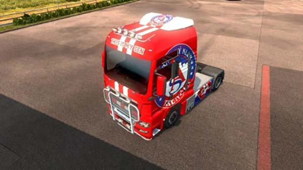 AS Trencin MAN TGX skins red and white