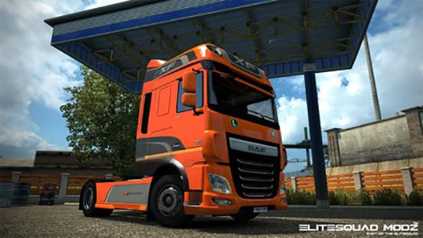 DAF XF Euro 6 Original and Metallic paintjob with stickers