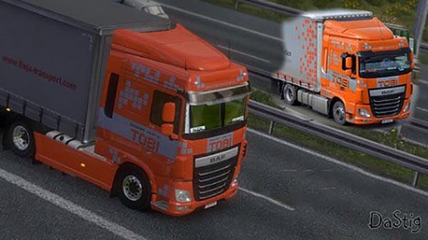 DAF XF Euro 6 Tobi Transport Skin