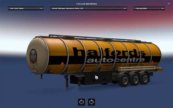 Halfords fuel tank trailer