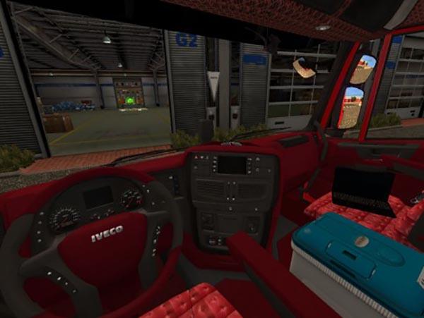 Iveco Hi-Way Black Red Interior