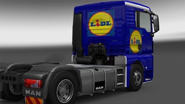 MAN Lidl truck skin