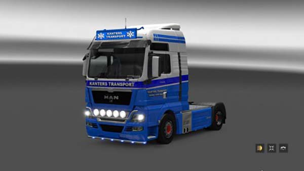 MAN TGX Kanters Transport Skin and Lightbox