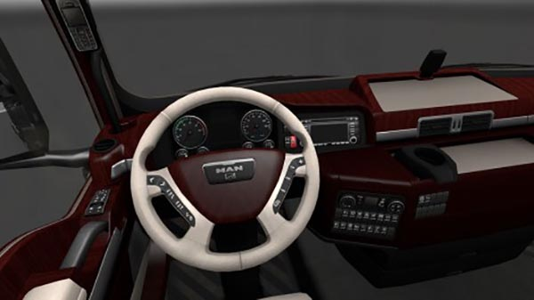 MAN TGX Wood Interior