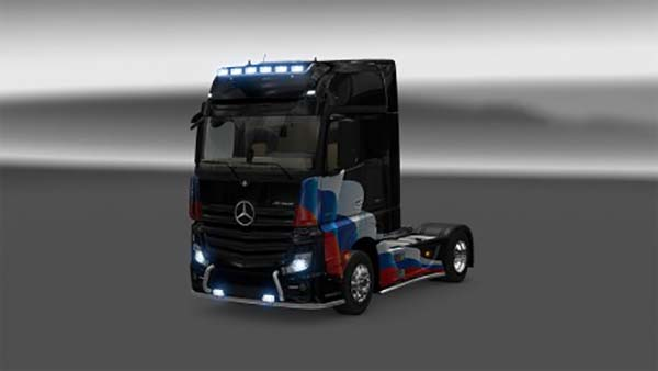 Mercedes Actros MP4 Russia Flag Skin