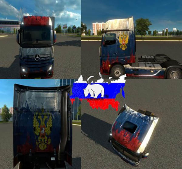 Mercedes Actros MP4 Russia Skin