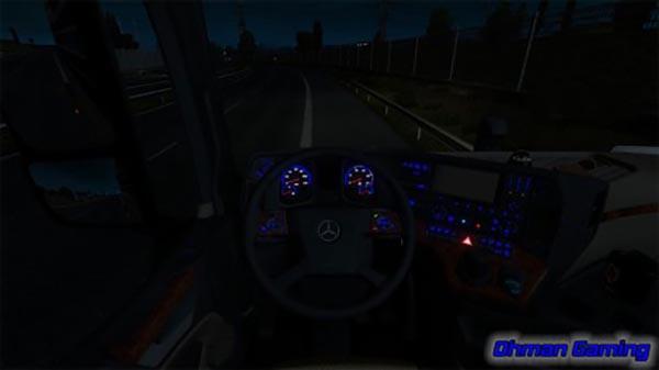 Mercedes benz mp4 blue dashboard lights for Mercedes benz dashboard lights not working